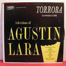 Discos de vinilo: F. MORENO TORROBA Y SU ORQUESTA TOCAN SELECCIONES DE AGUSTIN LARA LP33. Lote 2043522