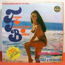 Discos de vinilo: GABRIEL ROMERO CON AL DIAZ Y SU COMBO ( TENGO LOCURA POR BAILAR ) COLOMBIA LP33. Lote 12523402