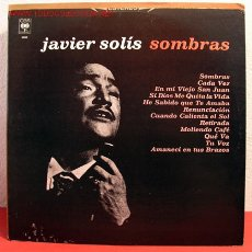 Discos de vinilo: JAVIER SOLIS ( SOMBRAS ) 1980 LP33. Lote 2048623