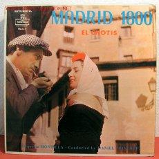 Discos de vinilo: ORQUESTA MONTILLA ' MADRID 1800: EL CHOTIS' NEW YORK LP33. Lote 2048642