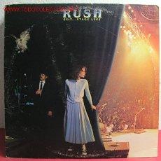 Discos de vinilo: RUSH ( EXIT...STAGE LEFT ) USA-1981 LP33 DOBLE. Lote 2222225