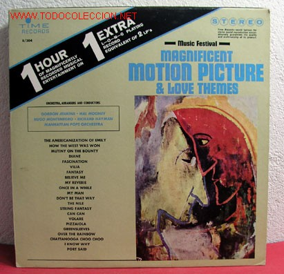 MAGNIFICENT MOTION PICTURE & LOVE THEMES ''MUSIC FESTIVAL'' ''GORDON JENKINS-HAL MOONEY-HUGO MON (Música - Discos - LP Vinilo - Otros estilos)