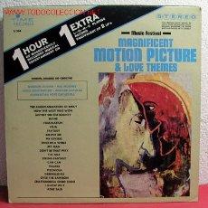 Discos de vinilo: MAGNIFICENT MOTION PICTURE & LOVE THEMES ''MUSIC FESTIVAL'' ''GORDON JENKINS-HAL MOONEY-HUGO MON. Lote 2248814