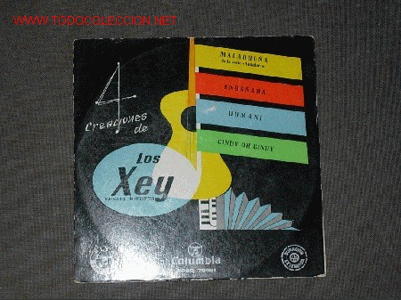 LOS XEY EP DE 4 CANCIONES (Música - Discos de Vinilo - EPs - Rock & Roll)