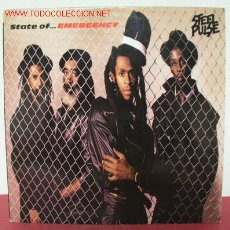 Discos de vinilo: STEEL PULSE ( STATE OF ... EMERGENCY ) 1988 LP33. Lote 2365568