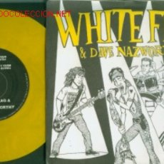 Discos de vinilo: WHITE FLAG - BEYOND HURT - RARISIMO SINGLE USA EN VINILO AMARILLO - PUNK. Lote 19945409