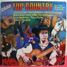 Discos de vinilo: TOP COUNTRY ''JOHNNY CASH, MARTY ROBBINS, BOB LUMAN, JODY MILLER...'' 1973 LP33. Lote 2389409