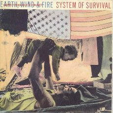Discos de vinilo: EARTH WIND AND FIRE-SYSTEM OF SURVIVAL/WRITING ON THE WALL. Lote 2396802