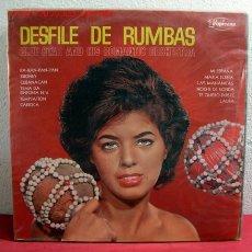 Discos de vinilo: DESFILE DE RUMBAS '' SIBONEY, CUBANACAN, CARIOCA, MI ESPAÑA, LAURA...'' RIO DE JANEIRO LP33. Lote 2414768
