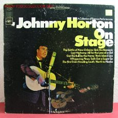 Discos de vinilo: JOHNNY HORTON ( ON STAGE ) USA LP33. Lote 2418521
