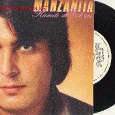 Disques de vinyle: UXV MANZANITA - DISCO PROMOCIONAL - RAMITO DE VIOLETAS - ACOMPAÑADO DE FOLLETO CBS DE 5 FOLIOS. Lote 26543930