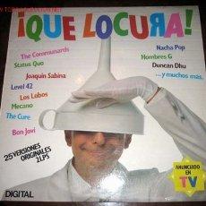 Discos de vinilo: ¡ QUE LOCURA! RECOPILATORIO DE DIGITAL - VARIOS ARISTAS. Lote 19337355