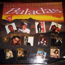 Discos de vinilo: BALADAS - LAS MEJORES BALADAS DEL AÑO - DOS DISCOS VARIOS ARTISTAS. Lote 19337358