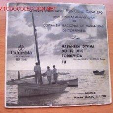 Discos de vinilo: ORFEON MURCIANO FERNANDEZ CABALLERO - 1º PREMIO DE GRANDES COROS CERTAMEN HABANERAS DE TORREVIEJA. Lote 24465244