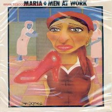 Discos de vinilo: MEN AT WORK-MARIA/SNAKES AND LADDERS. Lote 2494080
