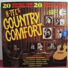 Discos de vinilo: 20 ORIGINAL HITS COUNTY COMFORT ''FRANKIE LAINE, DOLLY PARTON, BILLY SWAN, JOHNNY CASH...''. Lote 2526261