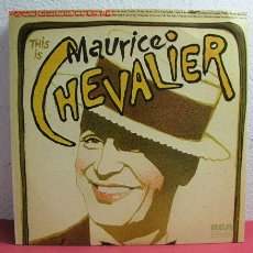 Discos de vinilo: MAURICE CHEVALIER ( THIS IS MAURICE CHEVALIER ) DOBLE LP33 USA - 1972 RCA. Lote 2534833
