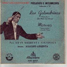 Discos de vinilo: ZARZUELA PRELUDIOS E INTERMEDIOS DISCOO SINGLE. Lote 20513860