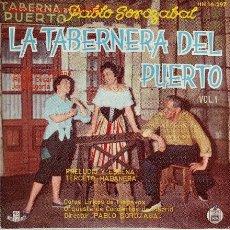 Discos de vinilo: ZARZUELA LA TABERNERA DEL PUERTO DISCO SINGLE. Lote 20625896