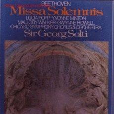 Discos de vinilo: BEETHOVEN CAJA CON ENCARTE DOS LP MISSA SOLEMNIS. Lote 26007885