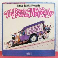 Discos de vinilo: THE BACK PORCH MAJORITY LIVE USA LP33. Lote 2595359