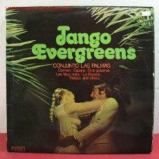 Discos de vinilo: CONJUNTO LAS PALMAS ( TANGO EVERGREENS ) 'LA PALOMA, TRISTEZA, DOS GUITARRAS, ESPAÑA, . Lote 2595528