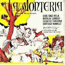 Discos de vinilo: ZARZUELA LA MONTERIA DEL MAESTRO GUERRERO DISCO EP. Lote 20746572