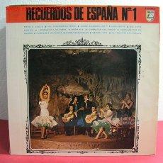 Discos de vinilo: RECUERDOS DE ESPAÑA Nº1 (VARIOS) ''EL POROMPOMPERO, PEPITA GREUS, EL GATO MONTES, ROMANCE,. Lote 2627708