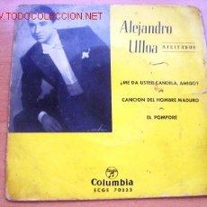 Discos de vinilo: ALEJANDRO ULLOA: RECITADOS - EDITA COLUMBIA. Lote 22084227
