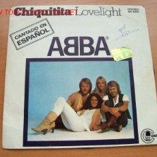 Discos de vinilo: ABBA - EDITA CARNABY - DOS TEMAS: CHIQUITITA EN ESPAÑOL - LOVELIGHT. Lote 22288383