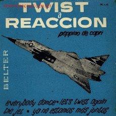 Discos de vinilo: PEPPINO DI CAPRI-TWIST A REACCION EP 1962 RARO SPAIN . Lote 2705747