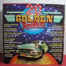 Discos de vinilo: 20 GOLDEN ROCKERS CHUCK BERRY, CHUBBY CHECKER, LITTLE RICHARD, FATS DOMINO, COASTERS, BILL HALEY.... Lote 2754481