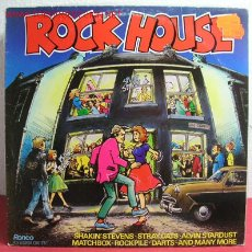 Discos de vinilo: ROCK HOUSE 'STRAY CATS, MATCHBOX, ROCKPILE, DARTS AND MANY MORE, ALVIN STARDUST...' 1981. Lote 10822769