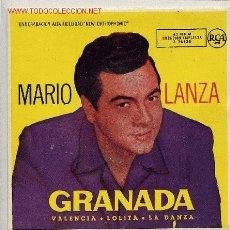 Discos de vinilo: MARIO LANZA / GRANADA (EP). Lote 2799948