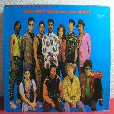 Discos de vinilo: WAS (NOT WAS) ''ARE YOU OKAY?'' 1990 LP33. Lote 2810661