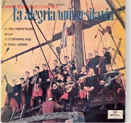 LA ALEGRE UNIVERSITARIA EP - AÑO 1961 (Música - Discos de Vinilo - EPs - Otros estilos)