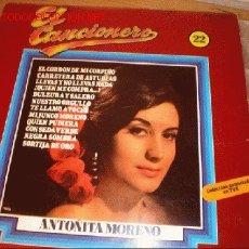 Discos de vinilo: LP- ANTOÑITA MORENO-EL CANCIONERO Nº22. Lote 2939394