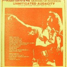 Discos de vinilo: FRANK ZAPPA-UNMITIGATED AUDACITY LP MUY RARO EDITADO POR GLC EN 1981. Lote 2974257