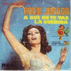 Discos de vinilo: ROCIO JURADO DISCO SINGLE DE LA PELICULA LA QUERIDA RCASPBO 2401 1976. Lote 19260267