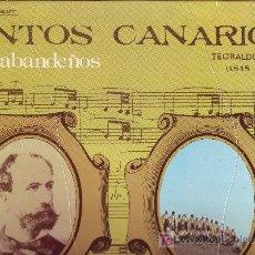 Discos de vinilo: LOS SABANDEÑOS CANTOS CANARIOS DISCO LP CON ENCARTE LETRA DE CANCIONES TXS3172 1980 SPA. Lote 22621152