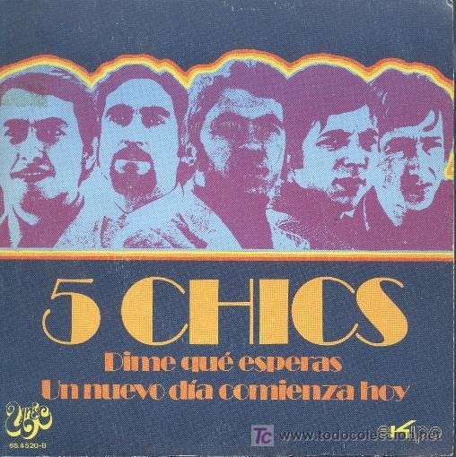 5 CHICS-DIME QUÉ ESPERAS+UN NUEVO DIA COMIENZA HOY SINGLE VINILO PROMO B-B EDITADO POR UNIC EN 1971 (Música - Discos - Singles Vinilo - Grupos Españoles de los 70 y 80)