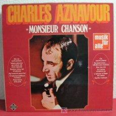 Discos de vinilo: CHARLES AZNAVOUR ' MONSIEUR CHANSON ' GERMANY LP33. Lote 3055580