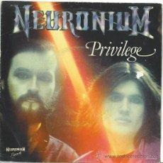 Discos de vinilo: NEURONIUM - PRIVILEGE · DIGITAL OVERTURE SINGLE. Lote 26254130