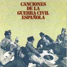 Discos de vinilo: CANCIONES DE LA GUERRA CIVIL ESPAÑOLA SINGLE PROMOCIONAL. Lote 9797276