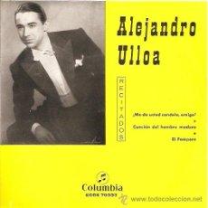 Discos de vinilo: ALEJANDRO ULLOA EP SELLO COLUMBIA AÑO 1963 . Lote 9809719