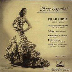 Discos de vinilo: PILAR LOPEZ EP SELLO LA VOZ DE SU AMO AÑO 1958. Lote 9822319
