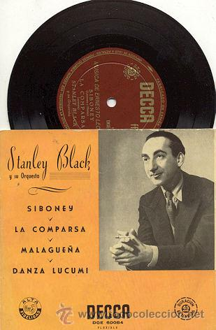 EP 45 RPM / STANLEY BLACK / SIBONEY // EDITADO POR DECCA (Música - Discos de Vinilo - EPs - Orquestas)