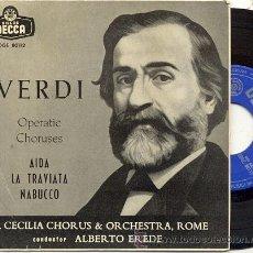 Discos de vinilo: EP 45 RPM / VERDI / AIDA // EDITADO POR DECCA . Lote 22189677