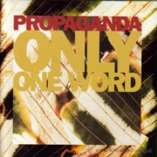 Disques de vinyle: PROPAGANDA- ONLY ONE WORD + OPEN SPACES SINGLE 1990 UE. Lote 9902029