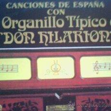 Discos de vinilo: EL ORGANILLO TIPICO DE DON HILARION. Lote 9914093